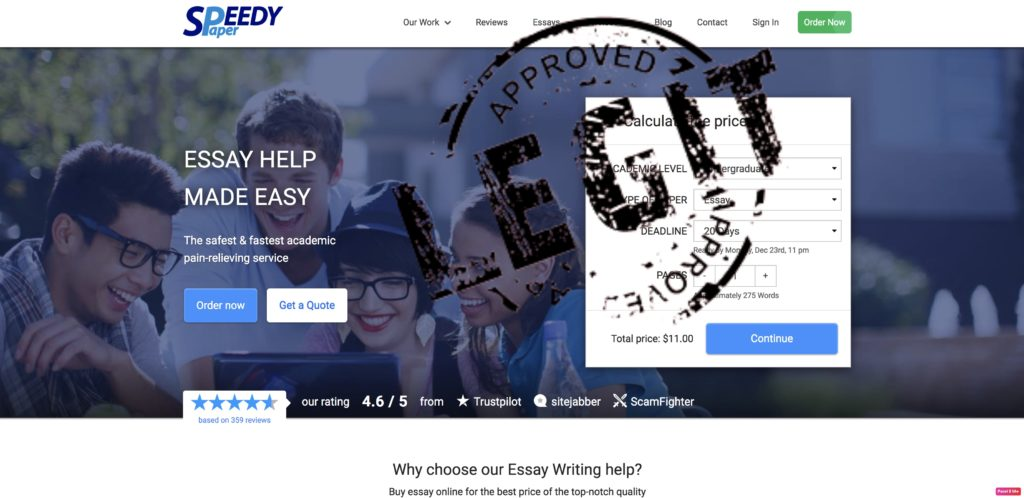 Easy essay help review